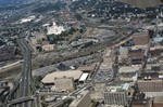 I-95, Providence Civic Center, and view of Capital Center before redevelopment