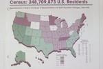 Census Map of U.S. 1980-1990