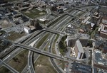 Aerial of Interstate 95 at downtown Providence