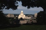 Rhode Island State House from Prospect Terrace Park