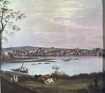 "Painting - ""Providence From Across the Cove"" (1818) - Alvan Fisher"