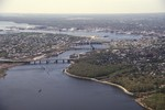 Aerial of Providence over Seekonk River