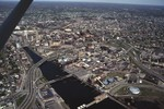 Aerial View of RI Company Powerhouse also known as Manchester St. Power Station