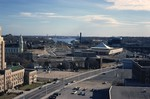 Pawtucket: Downtown, Apex, City Hall (aerial)