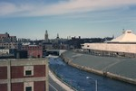 Pawtucket & Blackstone River with urban renewal and Slater Mill