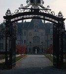 Newport- Salve Regina University Entrance- North of Breakers on Cliff Walk