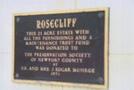 Rosecliff  Mansion Plaque