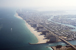 Miami Beach: Aerial View of Bal Harbour, Collins Ave.