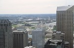 Indianapolis: One America Tower, Skyline from Chase Tower