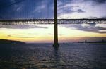 Lisbon: 25 de Abril Bridge at Sunset (Salazar Bridge) by Chet Smolski