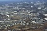 Seekonk: Aerial, Strip Mall Development on Route Six