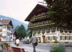 Oberammergau: Houses and Hotel Wolf