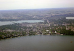 Wisconsin: Lake Wingra and Lake Monona, Aerial Photograph, Madison