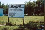 Madison: Triangle Neighborhood Sign