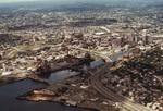 Providence from Narragansett Bay (aerial)