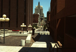 Looking at Downtown Providence from Cathedral Square
