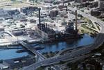 Providence: Narragansett Electric Lighting Co, South Street Station (aerial)