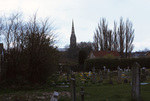 Cemetery and Salisbury Cathedral Spire